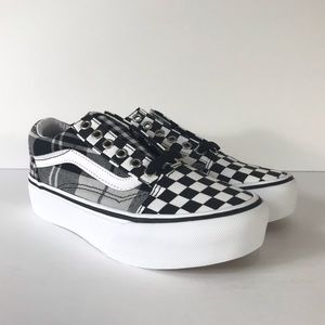 Vans Old Skool Platform Plaid Checkerboard Sneaker